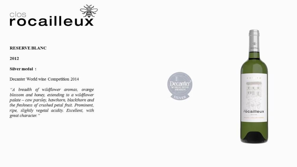 Réserve Blanc 2012